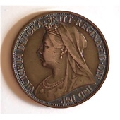 Farthing Victoriano Bronce 1899 Inglaterra