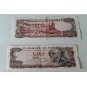 billete 100 pts 1970