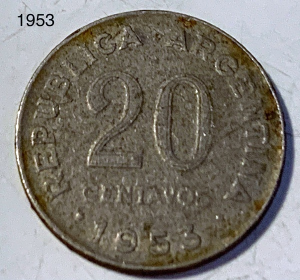 20 cts. (1953) - Argentina