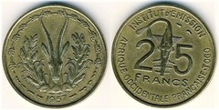 25 francs (Togo) from