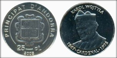 25 cèntims (Karol Wojtyla) from
