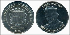 50 cèntims (Karol Wojtyla) from
