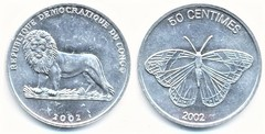 50 centimes (Mariposa) from