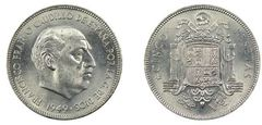 5 pesetas (Francisco Franco)
