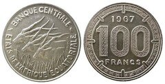 100 francs CFA from