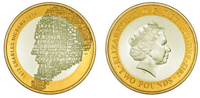 2 pounds (200th anniversary of the birth of Charles Dickens)