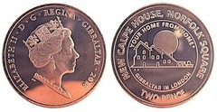 2 pence (New Calpe House)