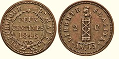 2 centimes from