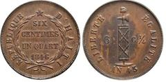 6 1/4 centimes from