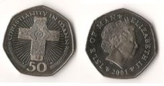 50 pence (Christianity in Mann)