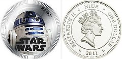 1 dólar (Star Wars-R2 D2)