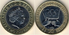 2 pounds (Olympic Games Handover Ceremony)