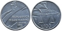 100 lire (Justicia) from