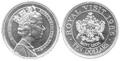 10 dollars (Visita de la Reina Isabel II) from