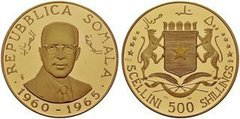 500 shillings (500 scellini) from