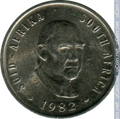 5 cents (End of Balthazar Johannes Vorsters Presidency)