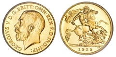 ½ sovereign (George V)