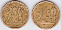 50 cents (Suid Afrika-South Africa)