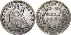 1/2 dime (Seated Liberty)