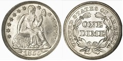 1 dime (Seated Liberty Dime)
