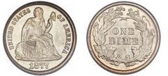 1 dime (Seated Liberty)
