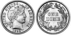 1 dime (10 cents) (Barber dime)
