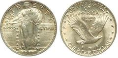 1/4 dollar (Standing Liberty Quarter - Tipo 2 - Pecho cubierto)