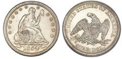 1/4 dollar (Seated Liberty Quarter)