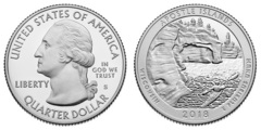 1/4 dollar (America The Beautiful - Apostle Islands National Lakeshore, Wisconsin)