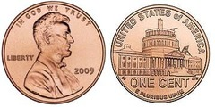 1 cent (Lincoln Penny) Presidency in Washington, D.C.