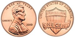 1 cent (Lincoln Cent-Shield Reverse)